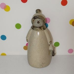 "⛄ Ceramic 12"" Snowman Winter Decor"